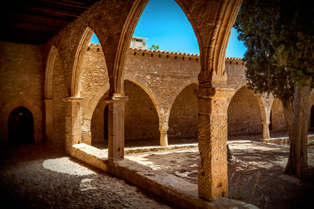 napa: Archway of Ayia Napa Monastery, Cyprus.