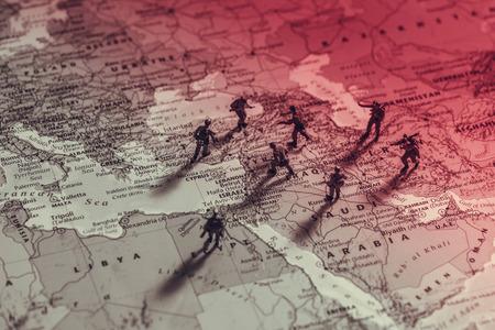 Midden-Oosten Conflict. conceptuele foto