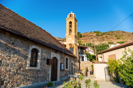districts: Church of Agios Georgios at Gourri Village. Nicosia district. Cyprus.