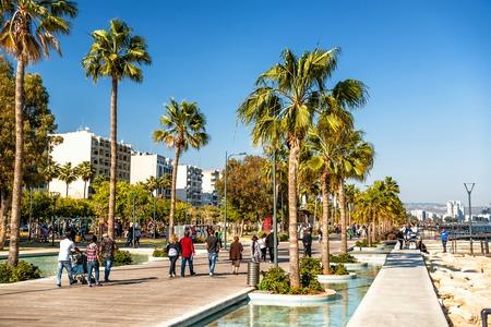 limassol: LIMASSOL, CYPRUS - APRIL 01, 2016: Limassol Seaside Park. Editorial