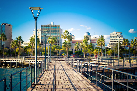 View of Limassol Seaside Park. Cyprus.