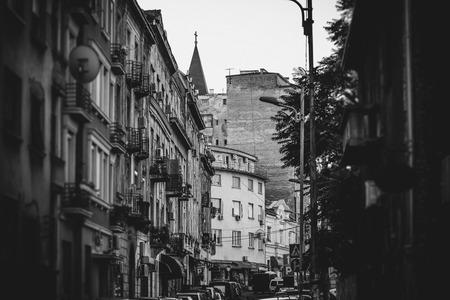 serbia: Dorde Jovanovic street. Belgrade, Serbia. Stock Photo
