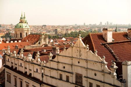 st nicholas: Cityscape and St. Nicholas Church. Prague, Czech Republic.