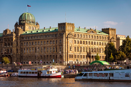 ministry: PRAGUE, CZECH REPUBLIC - SEPTEMBER 09, 2016: Ministry of Industry and Trade on the bank of river Vltava Editorial
