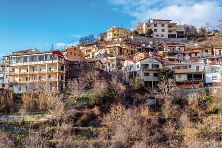 View of Agros village. Limassol District, Cyprus.
