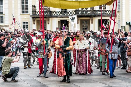 PRAG, TSCHECHISCHE REPUBLIK - SEPTEMBER 04, 2016: Feier des 700. Jahrestages der Krönung von König Karl IV.