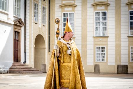 PRAG, TSCHECHISCHE REPUBLIK - SEPTEMBER 04, 2016: Feier des 700. Jahrestages der Krönung von König Karl IV