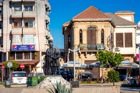 NICOSIA, CYPRUS - MARCH 24: Inonu Square, at the entrance of the walled city of Nicosia Editorial
