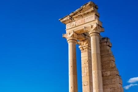 Ruinen des Heiligtums von Apollo Hylates, Limassol, Zypern.