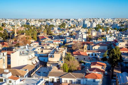 High Angle View von Nicosia Stadtbild. Zypern. Lizenzfreie Bilder