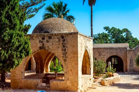 Courtyard and garden at Ayia Napa monastery. Cyprus