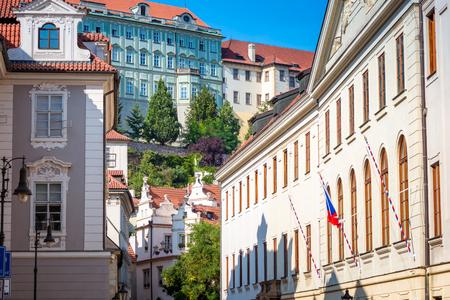 Alley in der Prager Burg. Prag, Tschechische Republik.