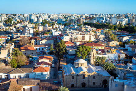 Elevated view of Nicosia rooftops. Cyprus