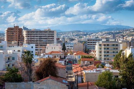 Überblick über die Stadt Limassol. Zypern Lizenzfreie Bilder