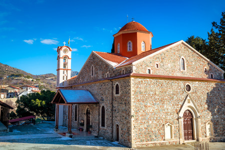 Panagia Eleousa Church at Agros village. Limassol District, Cyprus.