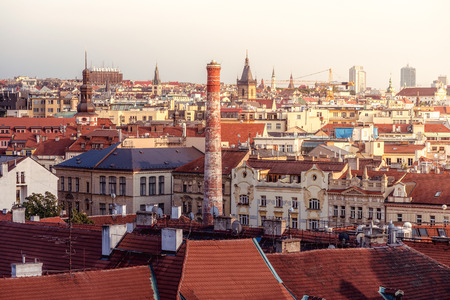Beautiful morning view of the city of Prague