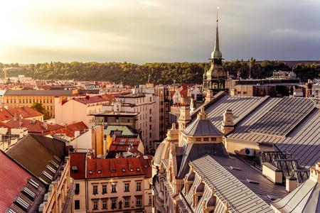 Prag Stadtbild. Erhöhte Ansicht. Tschechien