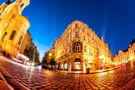 Nachtzeit am Altstädter Ring. Prag, Tschechische Republik