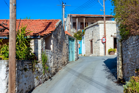 A street in the village of Laneia. Limassol District, Cyprus.
