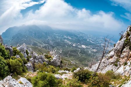 The Kyrenia Mountain Range. Kyrenia (Girne) District, Cyprus.