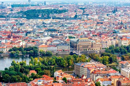 Mit Blick auf das historische Zentrum von Prag. Tschechien