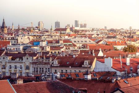 City skyline. Prague, Czech Republic.