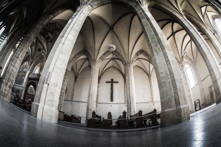 PRAG, TSCHECHISCHE REPUBLIK - 23. MAI 2017: Das Kirchenschiff von Emmaus-Kloster. Editorial