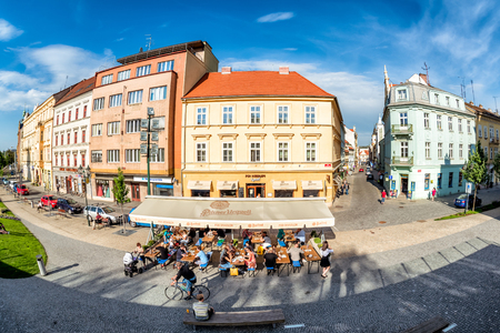 PILSEN (PLZEN), CZECH REPUBLIC - MAY 22, 2017: Street scene in the old town. Editorial