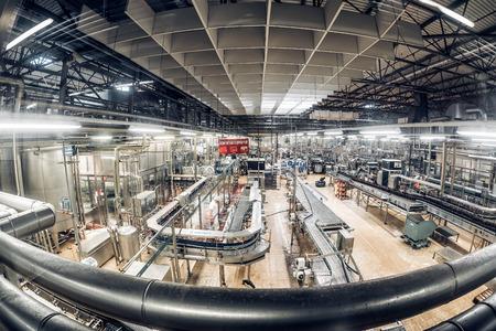 PILSEN (PLZEN), CZECH REPUBLIC - MAY 22, 2017: Interior of the PIlsner Urquell Beer bottling plant.