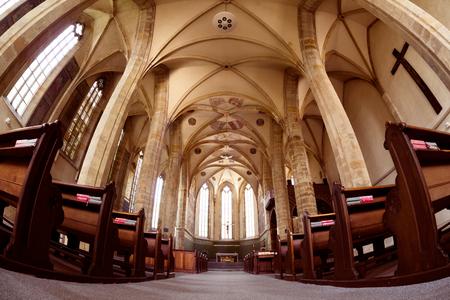 PRAG, TSCHECHISCHE REPUBLIK - 23. MAI 2017: Innenansicht von Emmaus-Kloster.