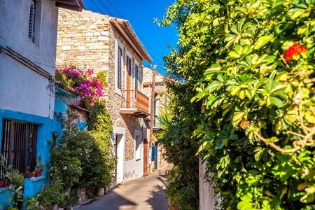 Charming street in an old village of Lefkara. Larnaca District, Cyprus.