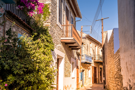 Old streets of Lefkara village. Larnaca District. Cyprus. Editorial