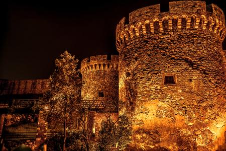 Kalemegdan Festung in der Nacht. Belgrad, Serbien.
