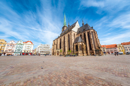 St. Bartholomew Cathedral in Pilsen. Czech Republic. Editorial