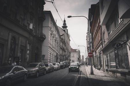 PILSEN (PLZEN), CZECH REPUBLIC - MAY 22, 2017: View of Zbrojnicka street.