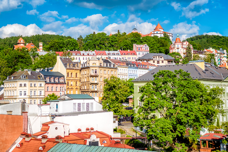 View of Karlovy Vary (Carlsbad). Czech Republic. Lizenzfreie Bilder