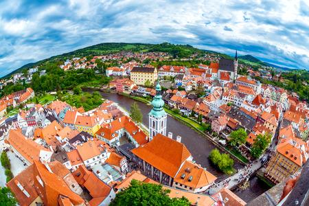 Historical centre of Cesky Krumlov. South Bohemia, Czech Republic.