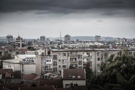 View across Zemun to Belgrade. Serbia.