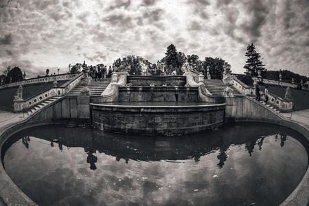 Cascade Fountain at Castle Garden. Czech Republic.