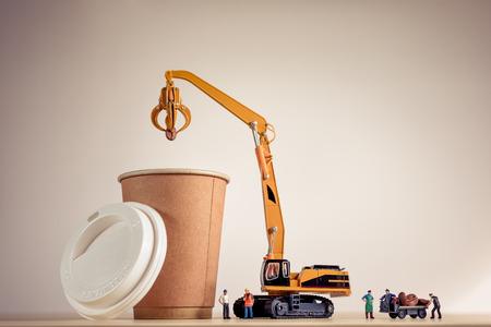 Coffee making process.Macro photo.