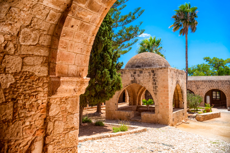 Fountain in the courtyard of the Monastery. Ayia Napa, Famagusta District, Cyprus.