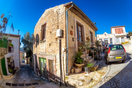 View of traditional Cypriot house in the village of Arsos. Limassol District, Cyprus