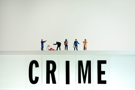 Various crime scenes. Stock Photo