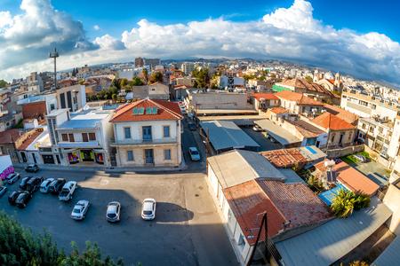 View of Athinon and Vasiliou Makedonos street crossing. Limassol, Cyprus.