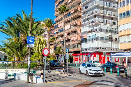 TORREVIEJA , SPAIN - NOVEMBER 10, 2017: View of Paseo Vistalegre street.