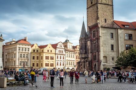 PRAGUE, CZECH REPUBLIC - SEPTEMBER 05, 2016: View of town centre
