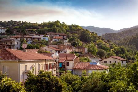 View of Kaliana village. Nicosia District, Cyprus.