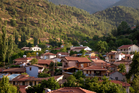 The village of Galata on the north side of the Troodos mountain range. Nicosia District, Cyprus