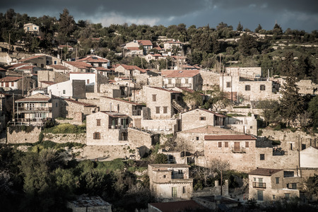 View of Vouni village. Limassol District. Cyprus. Stock Photo