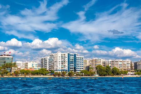 Residential buildings along Limassol seafront. Cyprus. Stock Photo